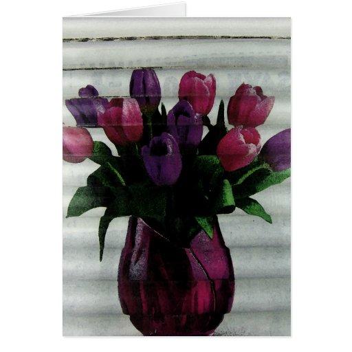 Tiempo del tulipán felicitaciones
