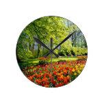 Tiempo del tulipán, jardines en Keukenhof Reloj