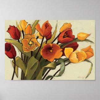 Tiempo del tulipán poster