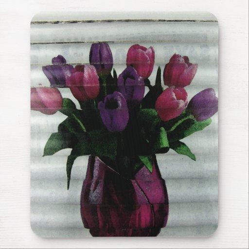 Tiempo del tulipán tapete de ratones