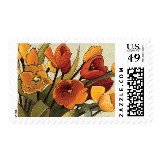 Tiempo del tulipán timbres postales