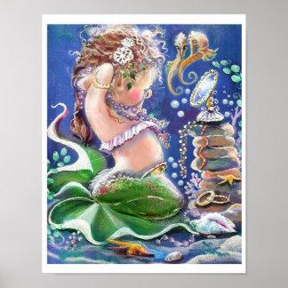 Tiempo del Vestido-para arriba de little mermaid Impresiones