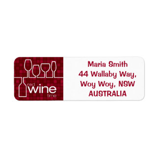 Tiempo del vino etiqueta de remite