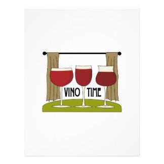 Tiempo del vino membrete a diseño