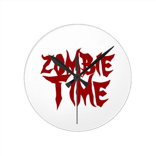 tiempo del zombi reloj redondo mediano