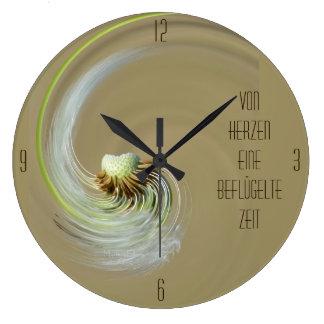 """tiempo dio alas"" by mysteryella reloj redondo grande"