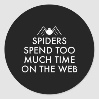 Tiempo en el Web Pegatina Redonda