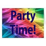 Tiempo-Enhorabuena del fiesta en sus realizaciones Tarjeton