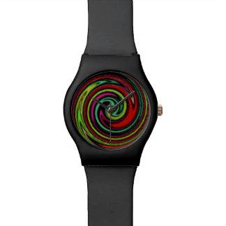 tiempo espiral hipnótico relojes de pulsera