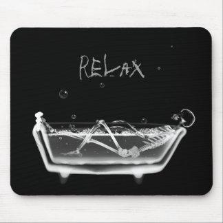 Tiempo esquelético del baño de la radiografía B&W  Alfombrilla De Ratones