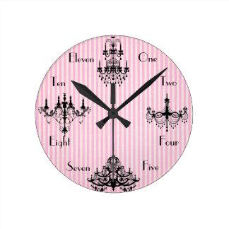 Tiempo francés reloj redondo mediano