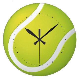 Tiempo fresco de la pelota de tenis el | para los reloj redondo grande