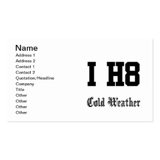 tiempo frío tarjetas de visita
