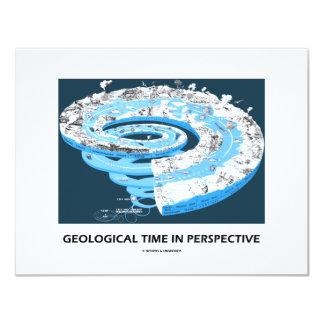 """Tiempo geológico en la perspectiva (edad invitación 4.25"""" x 5.5"""""""