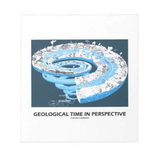 Tiempo geológico en la perspectiva (la historia de blocs de notas