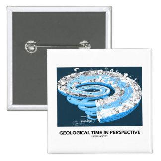 Tiempo geológico en la perspectiva (la historia de pin cuadrada 5 cm