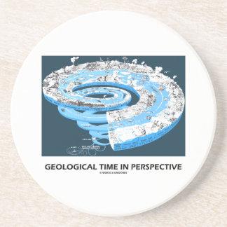 Tiempo geológico en la perspectiva la historia de posavasos personalizados