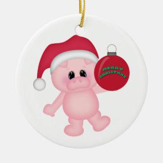 Tiempo guarro del navidad adorno navideño redondo de cerámica