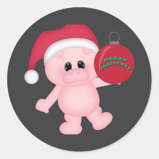 Tiempo guarro del navidad etiquetas
