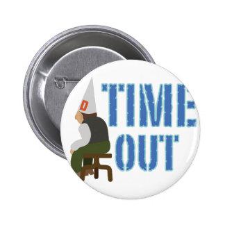 Tiempo hacia fuera pin redondo de 2 pulgadas