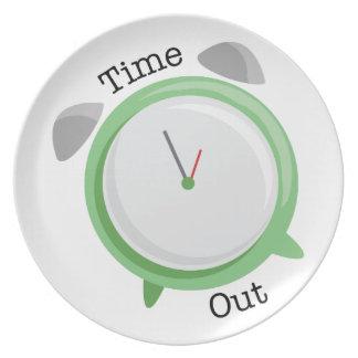 Tiempo hacia fuera plato