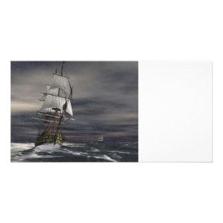 Tiempo inclemente tarjetas personales con fotos