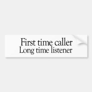 Tiempo largo de la primera vez etiqueta de parachoque