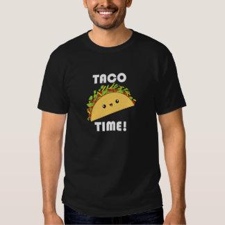 ¡Tiempo lindo del Taco del kawaii! Camiseta Playeras