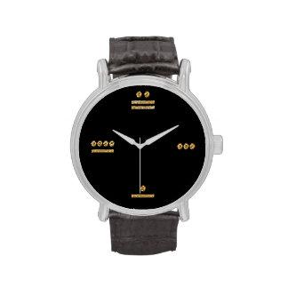 Tiempo maya - oro/oscuridad relojes de mano