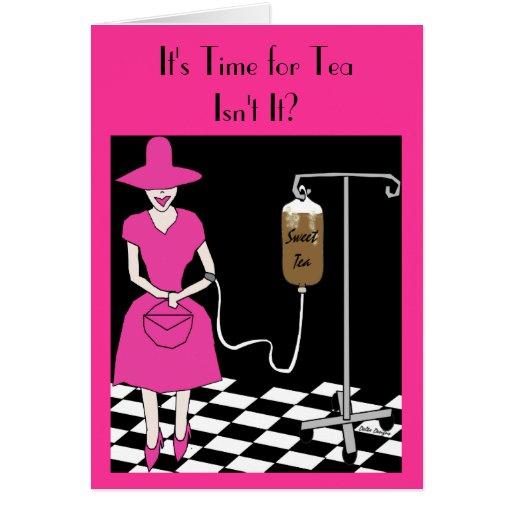 Tiempo meridional del galón para la tarjeta del té