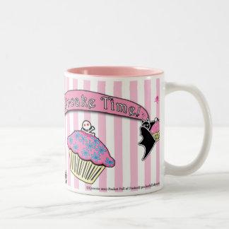 Tiempo mortal de la magdalena de Cute™ Delilah Taza De Café