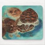 Tiempo Mousepad de la tortuga Alfombrillas De Ratón