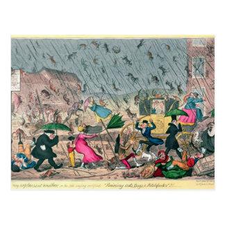 Tiempo muy desagradable, o el viejo refrán tarjetas postales