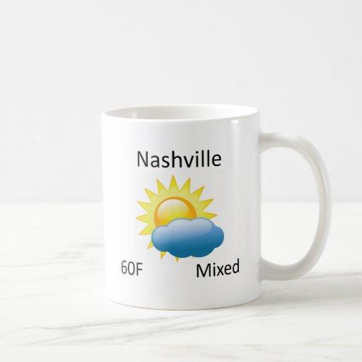 tiempo Nashville Tazas De Café