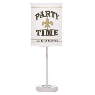 Tiempo negro blanco del fiesta de la flor de lis d lámpara de escritorio