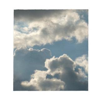 tiempo nublado azul de la Florida de la tormenta d Blocs De Notas