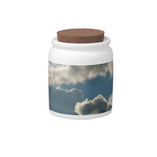 tiempo nublado azul de la Florida de la tormenta d Jarras Para Caramelos