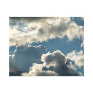 tiempo nublado azul de la Florida de la tormenta d Lona Envuelta Para Galerías
