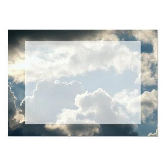 tiempo nublado azul de la Florida de la tormenta Invitación 12,7 X 17,8 Cm