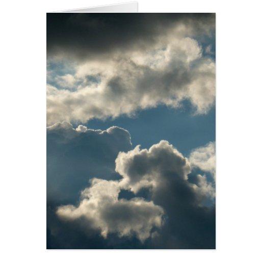tiempo nublado azul de la Florida de la tormenta Tarjeta De Felicitación