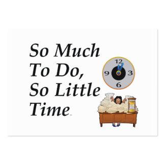 Tiempo ocupado de la CAMISETA Tarjetas De Visita Grandes
