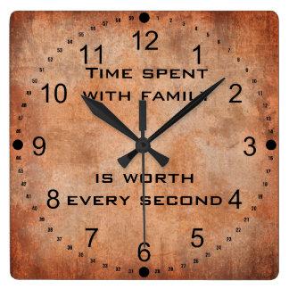 Tiempo pasado con el reloj de la cita de la famili