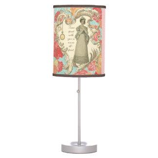 Tiempo pasado con usted lámpara de mesa