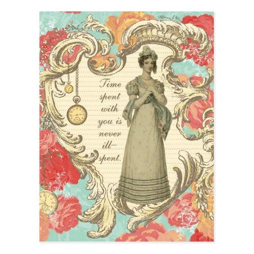Tiempo pasado con usted tarjetas postales