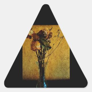 Tiempo pasajero pegatina de trianguladas
