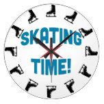 Tiempo patinador reloj de pared