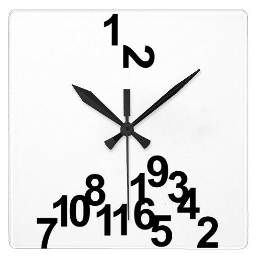 Tiempo perezoso relojes de pared