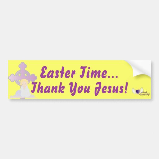 Tiempo-Personalizar de Pascua Pegatina De Parachoque