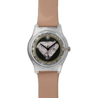 tiempo precioso del diamante relojes de pulsera