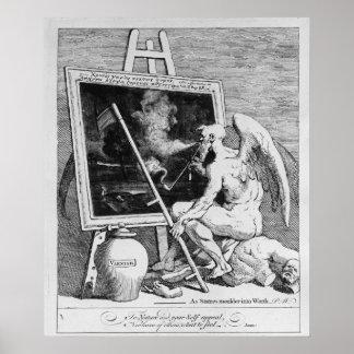 Tiempo que fuma una imagen, 1761 póster
